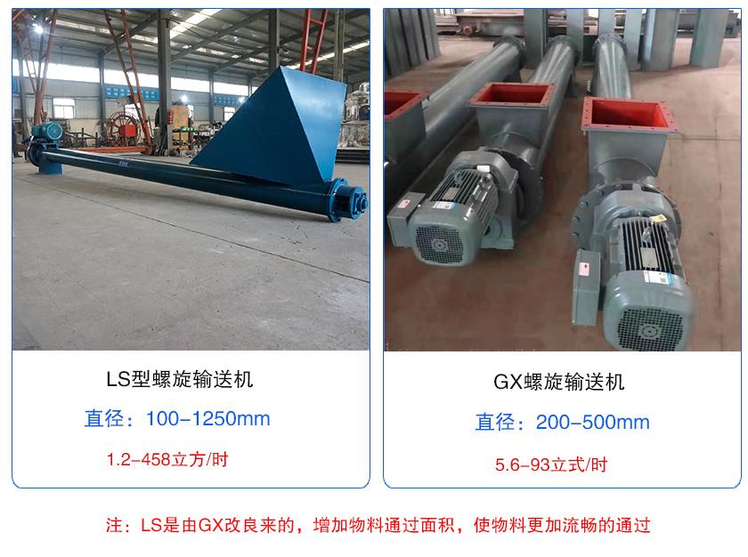 ls型和gx型螺旋输送机的区别